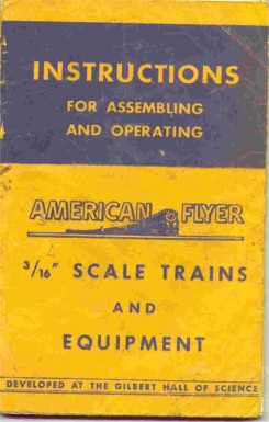 1949 Gilbert American Flyer Instruction Book (M2690). Good Condition.