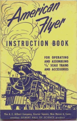 1952 Gilbert American Flyer Instruction Book (M2984) Good Condition