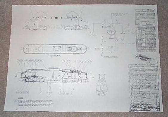 American Flyer New Haven Electric Blueprint. Very Good Condition. Copy.