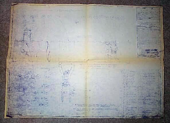Gilbert Telescope Blueprint. Very Good Condition. Copy.