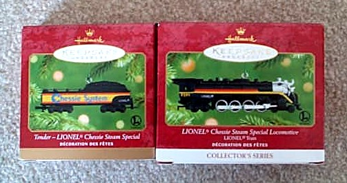 2001 Lionel # 6 Chessie Steam Special Loco And Tender Set. (QX6092, QX6285)