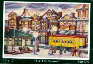 Angela Thomas Print # 21, \'Tis The Season. Mint Condition