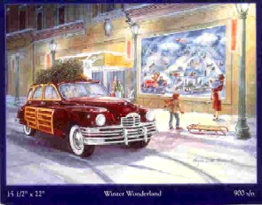 Angela Thomas Print # 26, Winter Wonderland. Mint Condition