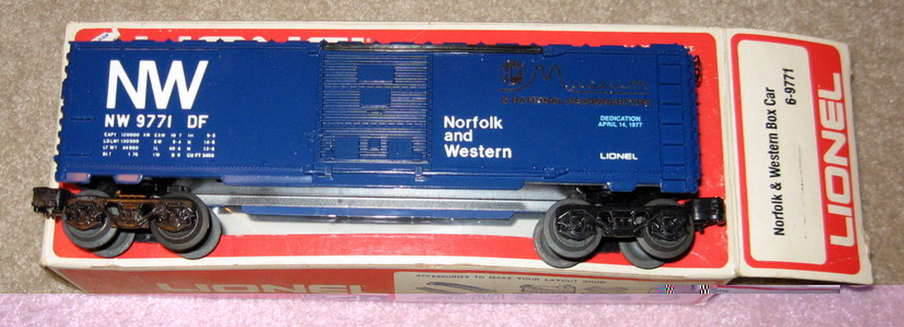 Lionel 9771 Norfolk and Western TCA Museum Box Car. Mint Condition.