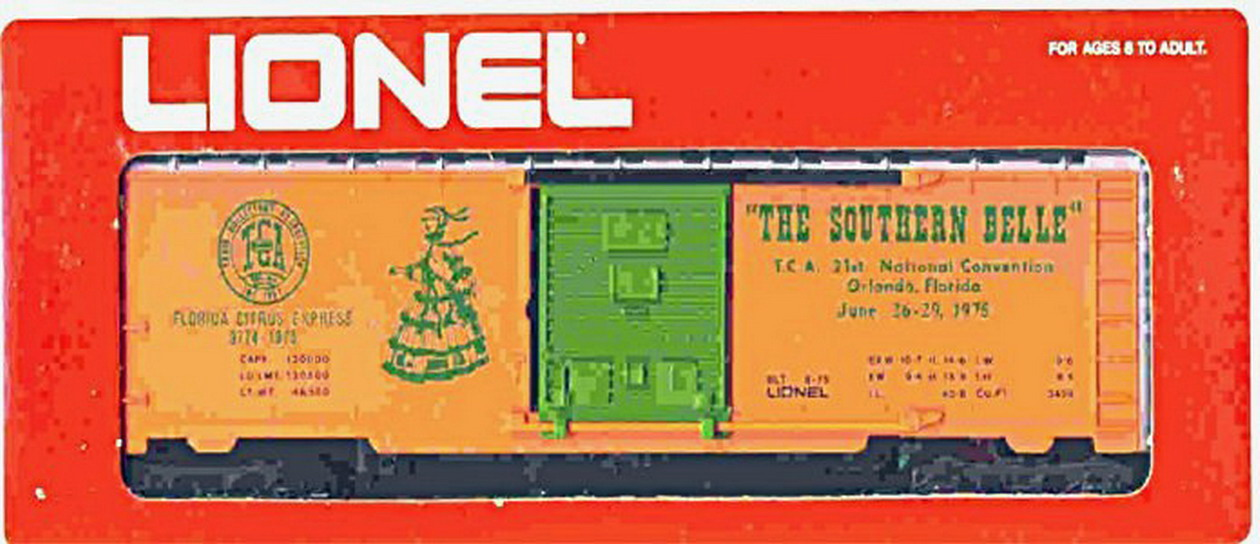 "Lionel 9774 TCA, ""The Southern Belle"", Convention Box Car. Mint Condition."