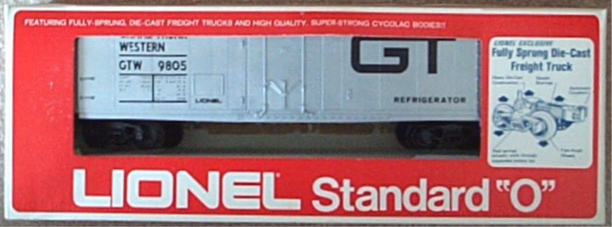 Lionel 9805 Standard O Grand Trunk Reefer. Mint Condition.