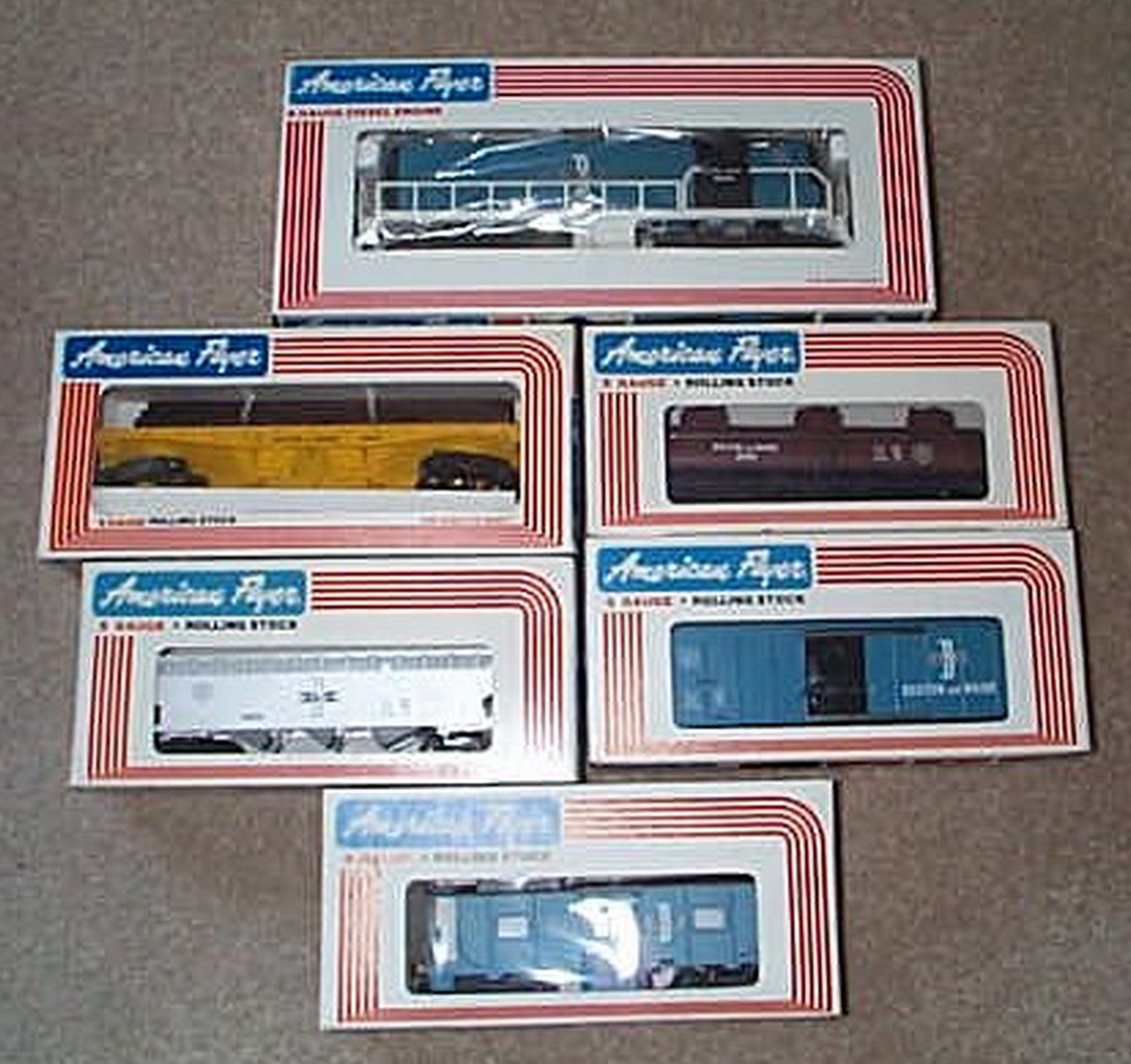 American Flyer 8350 B & M Freight Set Two. Mint Condition.