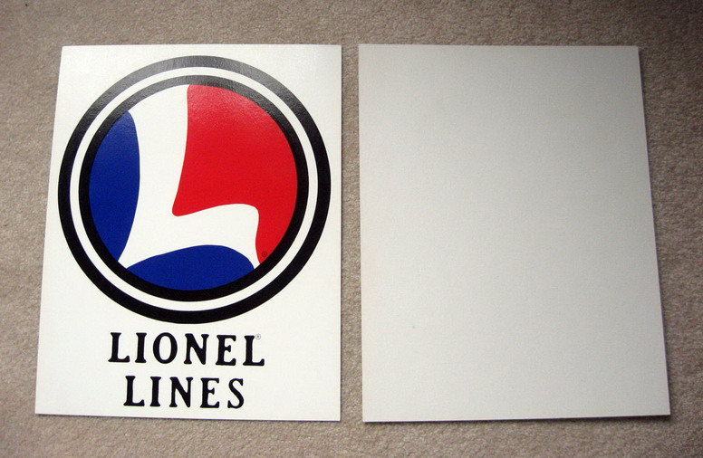LIONEL TRAINS Cardboard Backing Sign. Mint Condition.