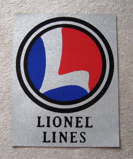 LIONEL TRAINS Collector Vinyl Glitter Sign. Mint Condition.