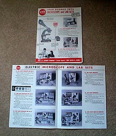 1960 American Flyer Gilbert Science Toy Microscope & Lab Sets (D2182). Mint Condition.