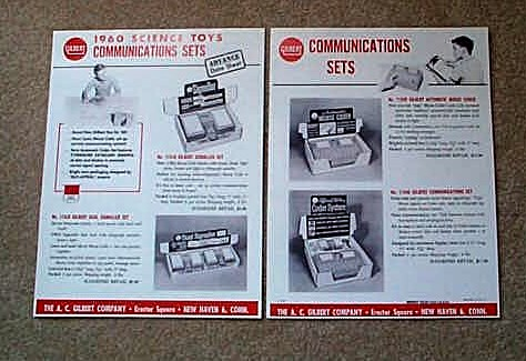 1960 American Flyer Gilbert Science Toy Communications Sets (D2184). Mint Condition.