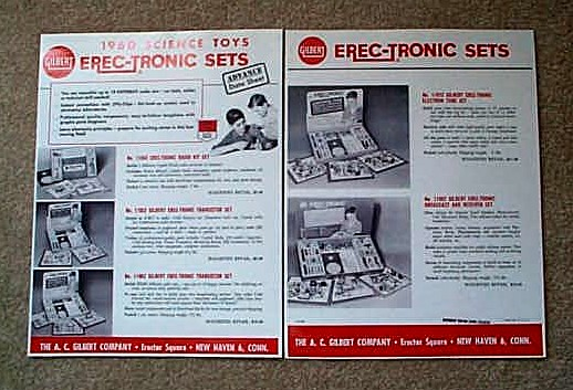 1960 American Flyer Gilbert Science Toy Erec-Tronic Sets (D2186). Mint Condition.