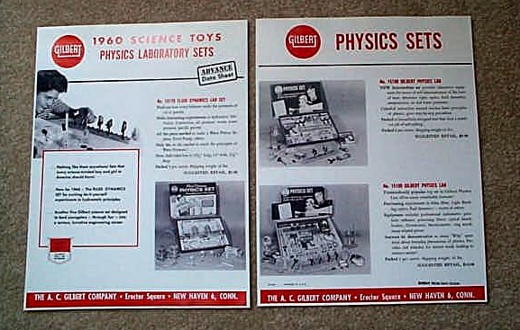 1960 American Flyer Gilbert Science Toy Physics Sets (D2188). Mint Condition.