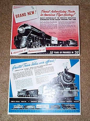 1950 American Flyer 50 Years Of Progress In Flyer (D1581). Mint Condition.