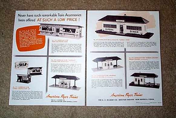 1952 American Flyer Accessories Promo Sheet (D1670). Mint Condition.