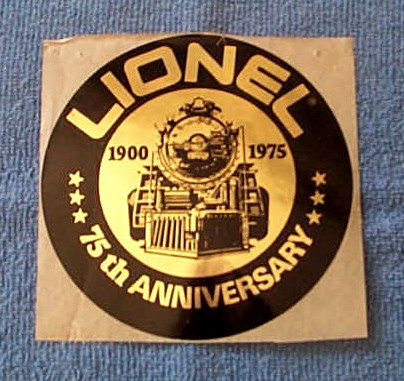 Lionel 75th Anniversary Sticker - Small Lionel Original